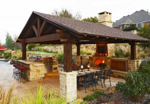 Outdoor patio hardscape